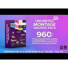Pack de Montage graphique, titres, Transitions, tiers inférieurs et plus, V7