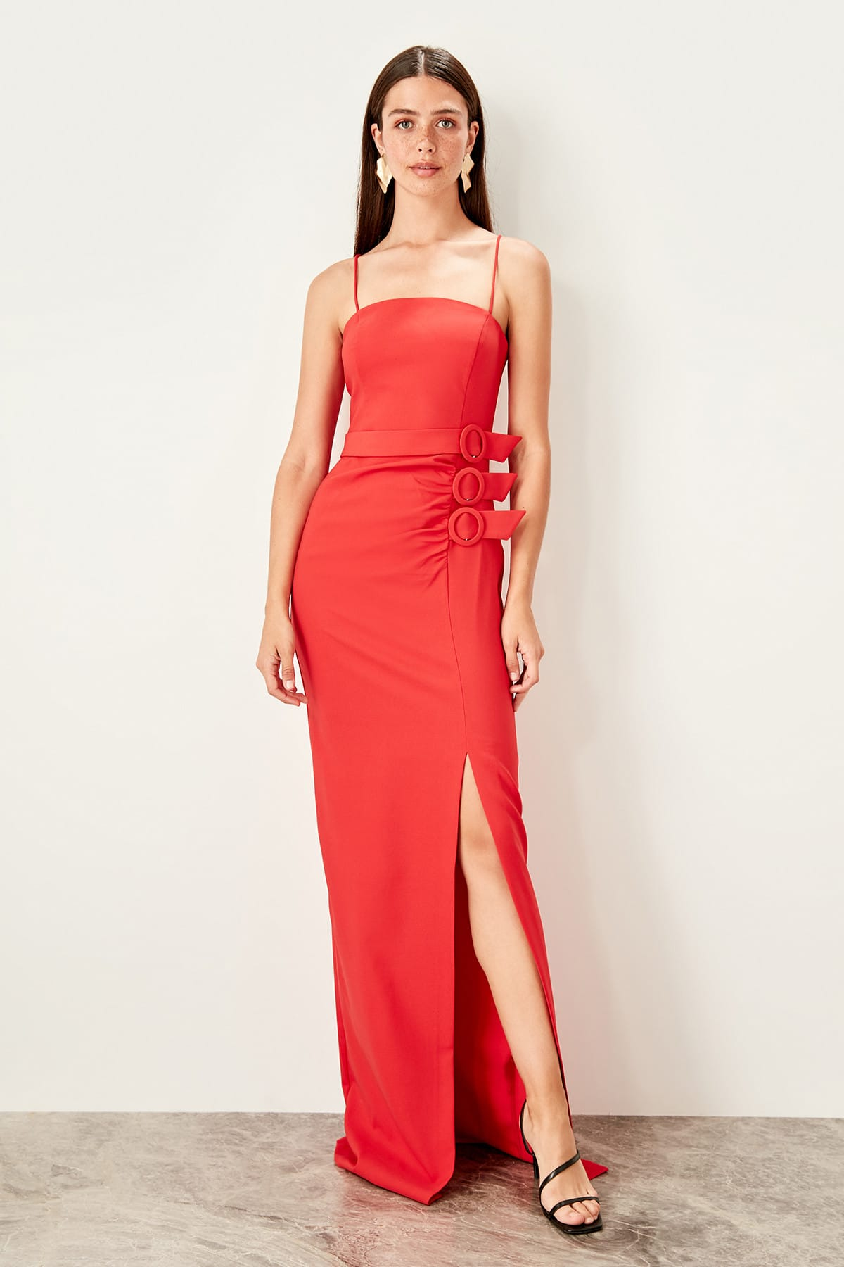 Trendyol Accessory Detailed Evening Dress TPRSS19BB0554