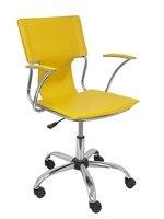 Tomada ergonómica cadeira de escritório com braços fixo ajustável altura e giro 360 °-assento e encosto tapeçaria