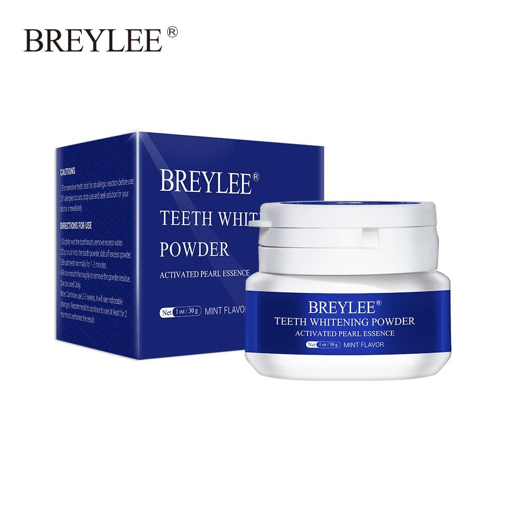 BREYLEE Teeth Whitening Powder Toothpaste Dental Tools White Teeth Cleaning Oral Hygiene Toothbrush Gel Remove Plaque Stains 30g