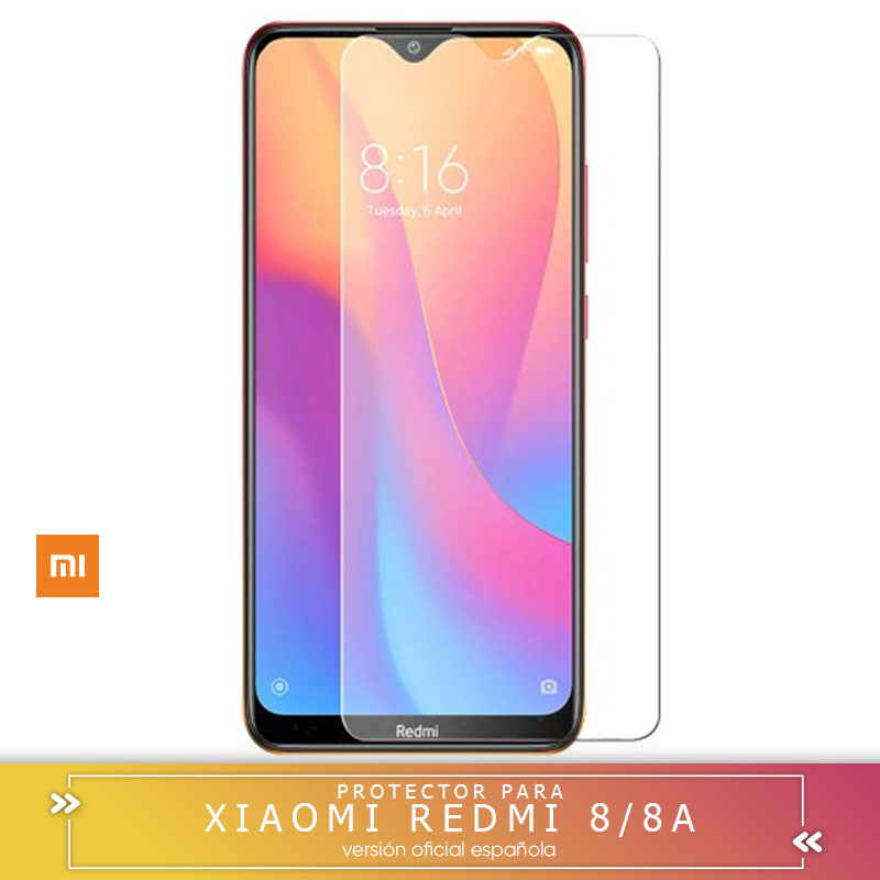 -Square-To LCD Cover Screen Protector Xiaomi Redmi Tempered Glass 8 Vidrio 2.5D 9H SCREEN PROTECTOR Shipping From Spain