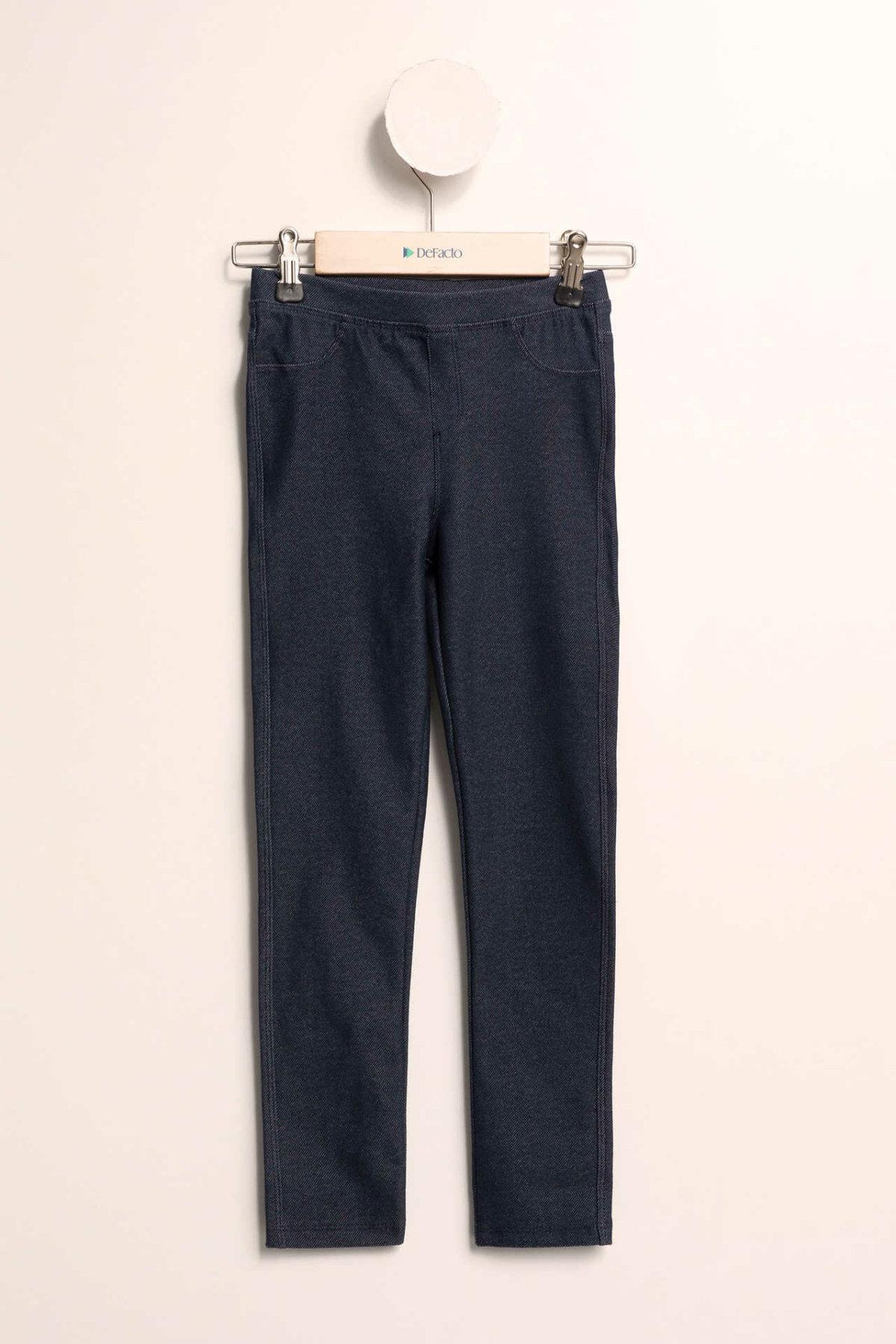 DeFacto Fashion Girl Sport Leggings Solid Comfort Jogging Pants Kids Casual Elastic Skinny Long Sportpants Girls - H9615A619SP