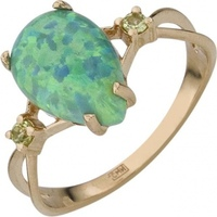Aloris opal ring in red gold