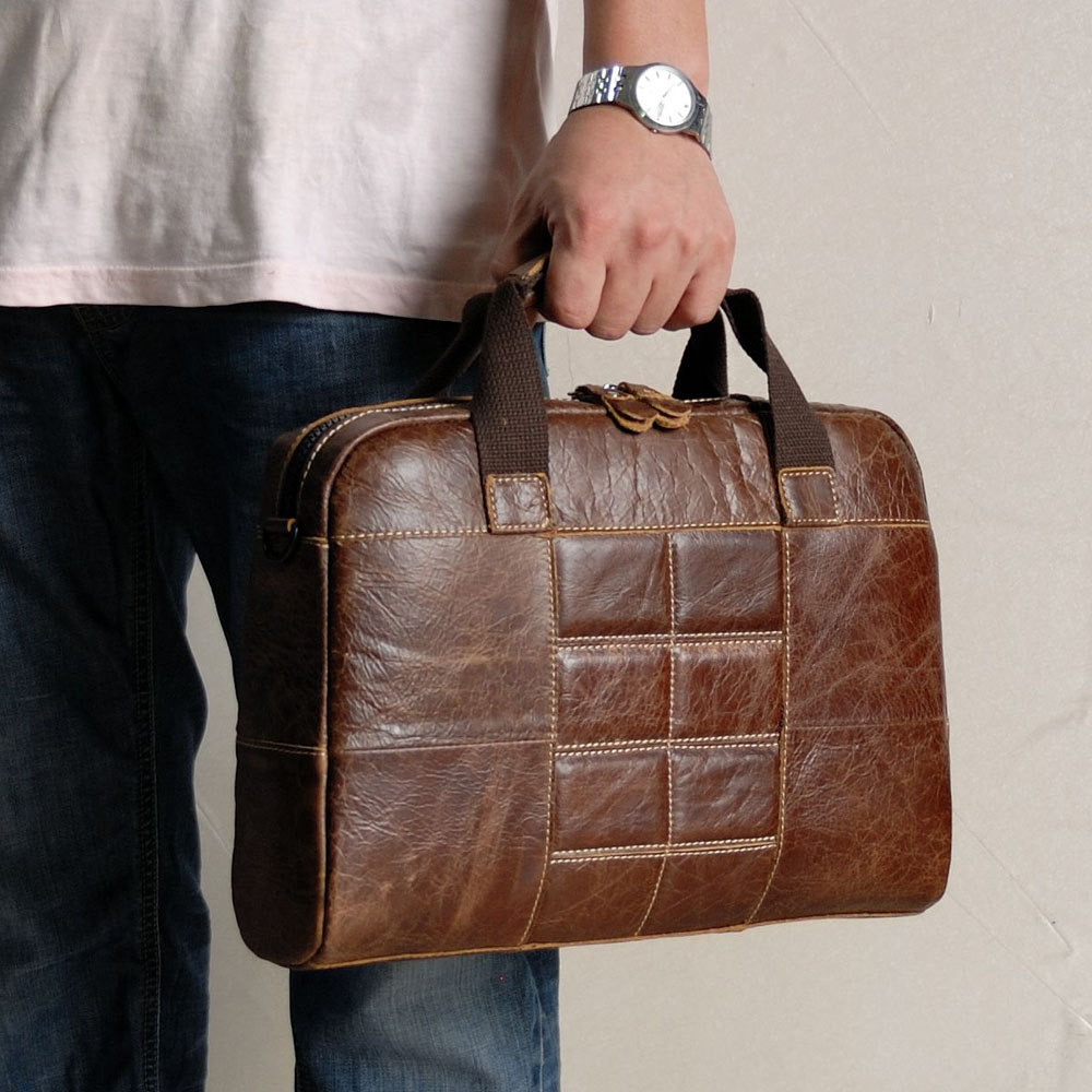 Luxury Man Business Briefcase Bag Real Leather High Quality Men Office Bags For 14 Inch Laptop A4 File Causel Male