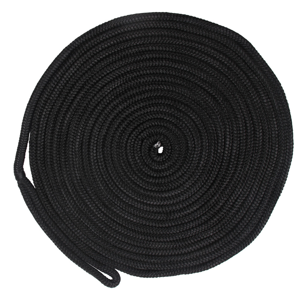 50 Feet Double Braid Dock Ropes For Boats 5/8 Inch 16 Strands Nylon Dock Lines Mooring Rope Anchoring Docking Rope Holder