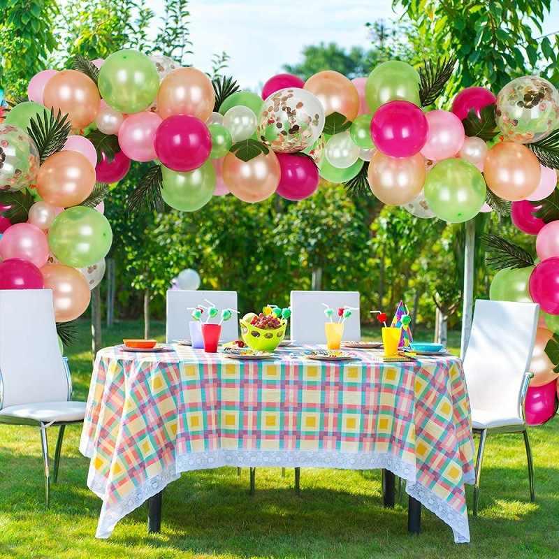 82pcs Flamingos Guirlandas Balões de Festa Tropical Arco da Festa de Aniversário Decoração Balões para Havaiana Aloha Hot Pink Ouro Estilo