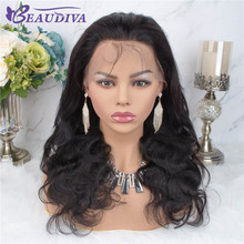 360 Lace Frontal Wig Pre Plucked With Baby Hair Peruvian Body Wave Human Wigs For Black Women