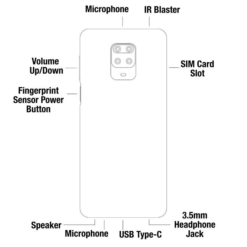 Global Version Xiaomi Redmi Note 9S 6GB RAM 128GB ROM (Brand New/Sealed) redminote9s, redmi, note, 9s Smartphone Mobile