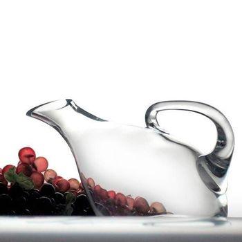 Wine decanter, wine jug, hand blown glass | 1L BOUQUET accessories