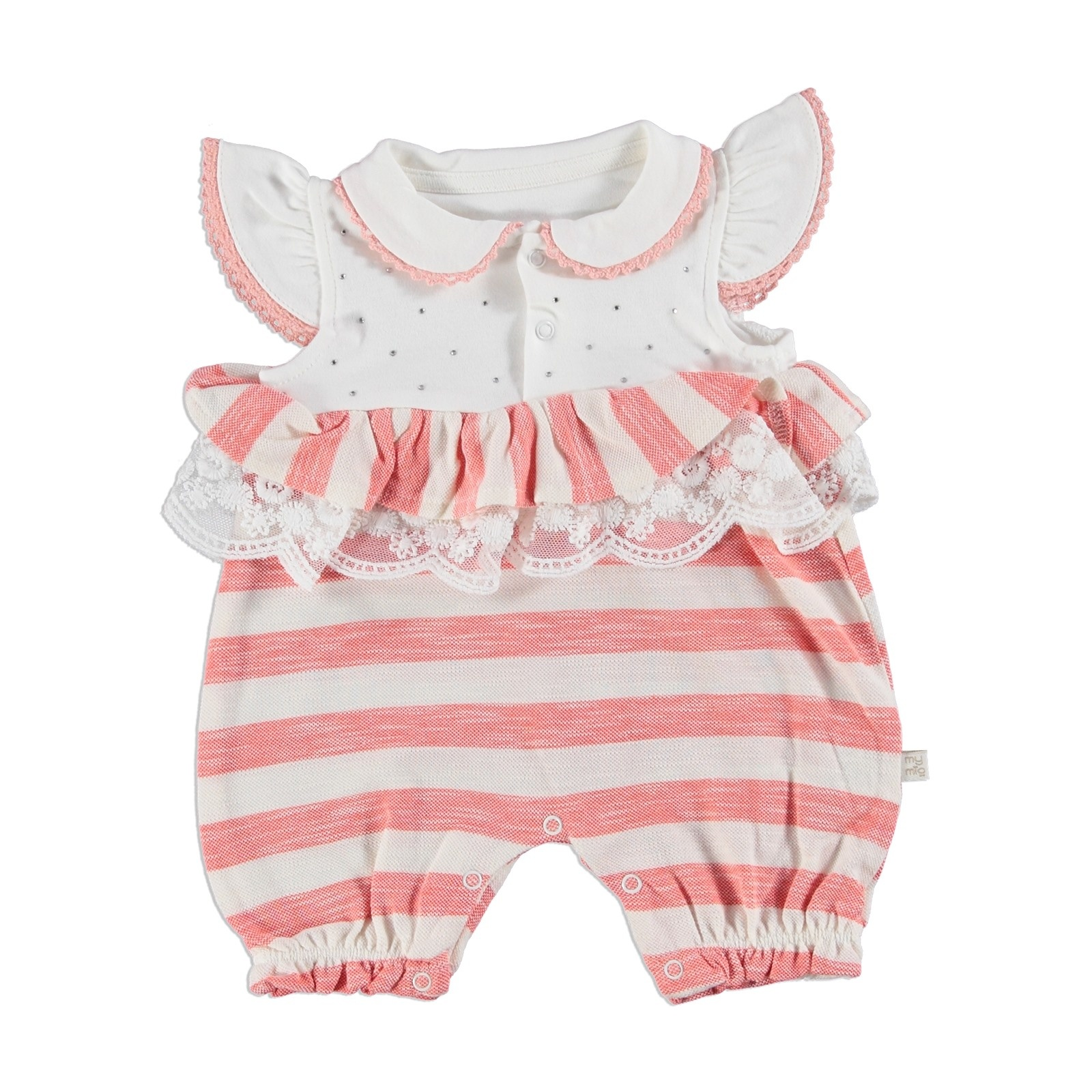 Ebebek Mymio Striped Baby Girl Jumpsuit