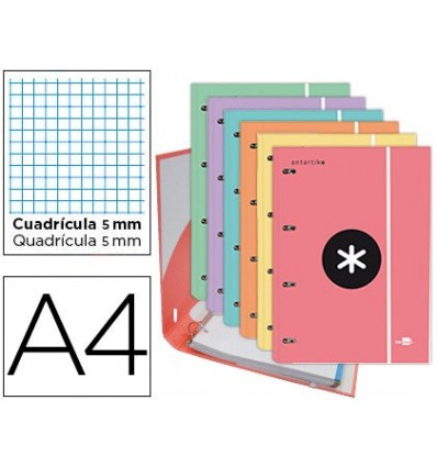 WALLET LEADERPAPER ANTARTIK WITH REPLACEMENT A4 TABLE 5 MM LINED 4 RINGS 25MM TRENDING TOPIC COLORS