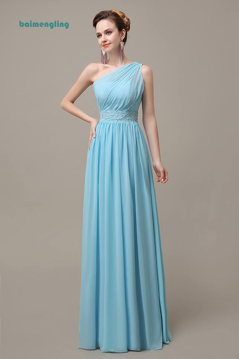 Blue Bridesmaid Dresses, Modest Bridesmaid Dress,chiffon Bridesmaid Dress,Long Bridesmaid Dress