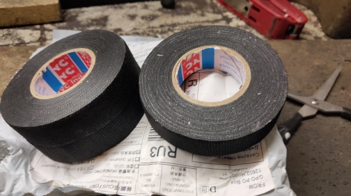 19mmx15m Tesa Coroplast Adhesive Cloth Tape for Cable Harness Wiring Loom Electrical Tape New  dropshipping