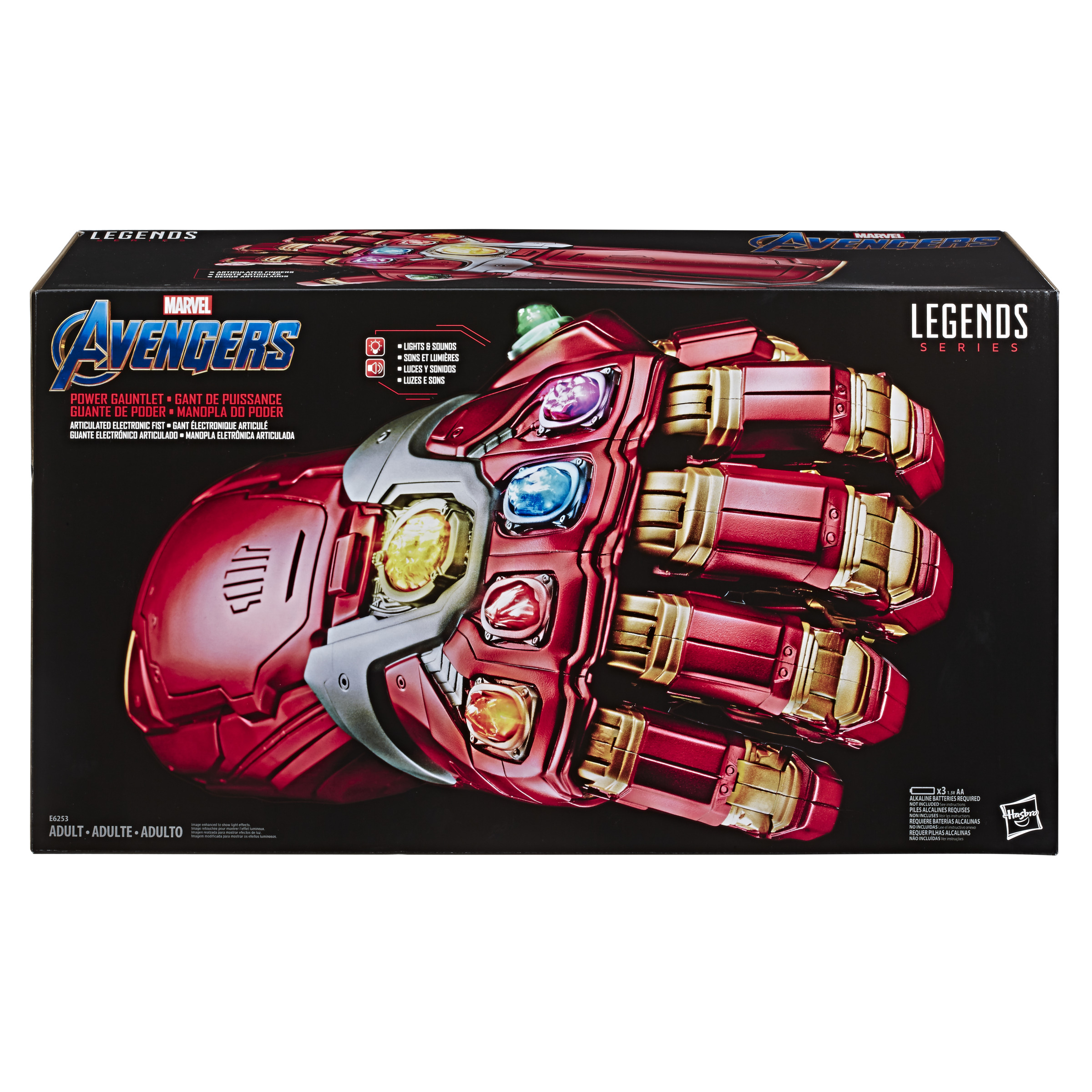 Hasbro Original Guante de Poder Electrónico Iron Man, Accesorio, Marvel Avengers Legend Series, Envío gratis, E6253EU4|Figuras de acción| - AliExpress