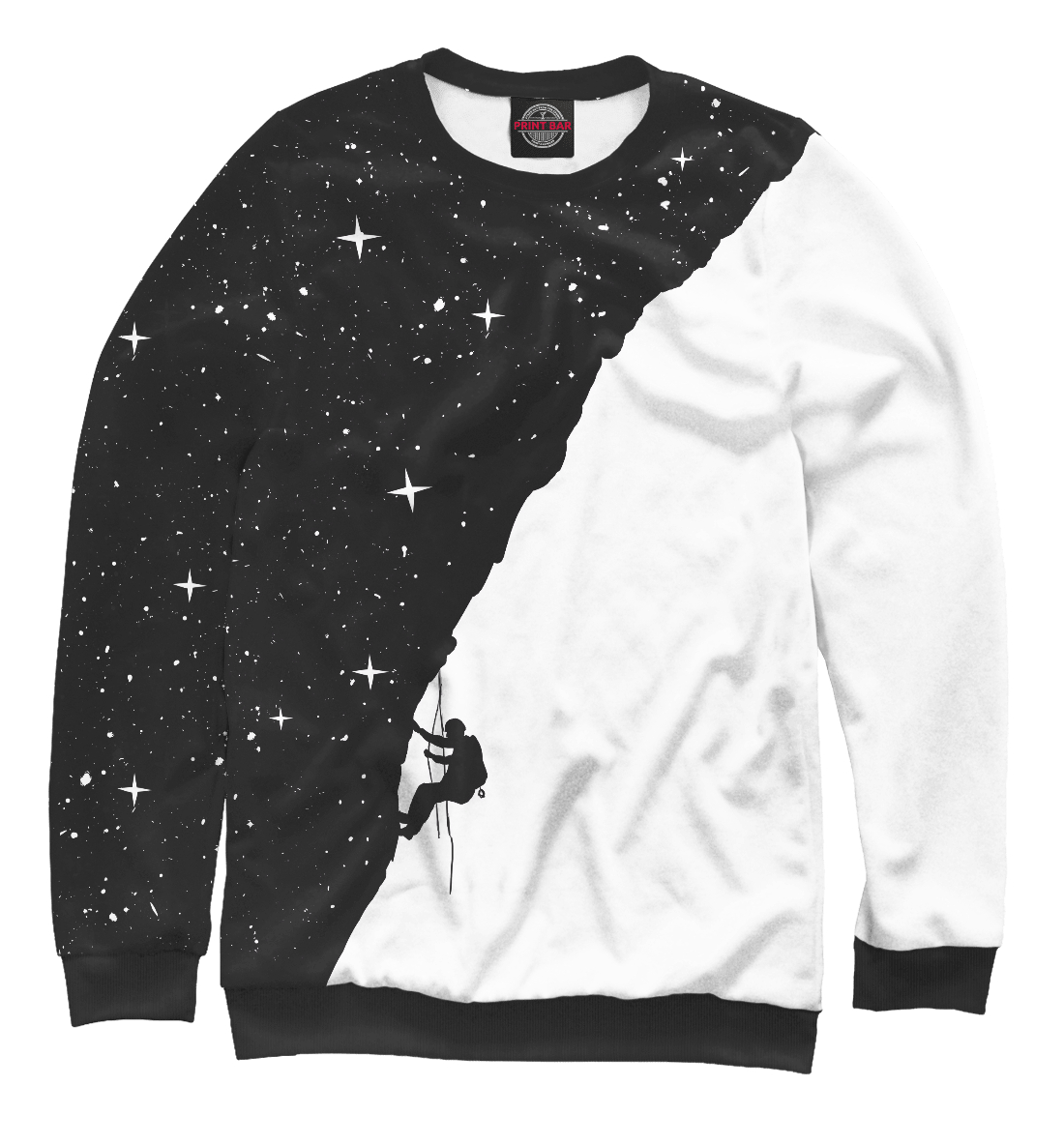 Sweatshirt Men Night Rock Climber