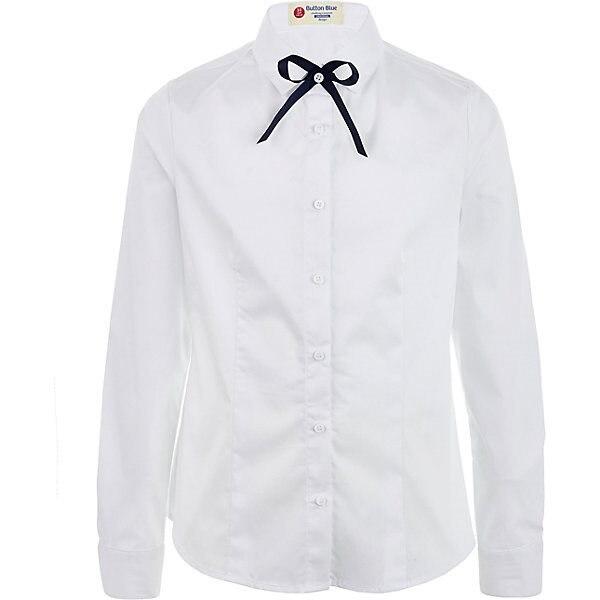 Blouse Button Blue MTpromo lace trim button up ruffle blouse