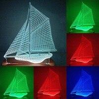 N 027 Boat 3D USB led Eco friendly lamp night light  hand  table night light  home decor |LED Night Lights| |  -