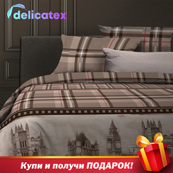 Set Tempat Tidur Delicatex 6456-1Oxford Home Tekstil Seprai Linen Bantalan Cover Duvet Cover Рillowcase