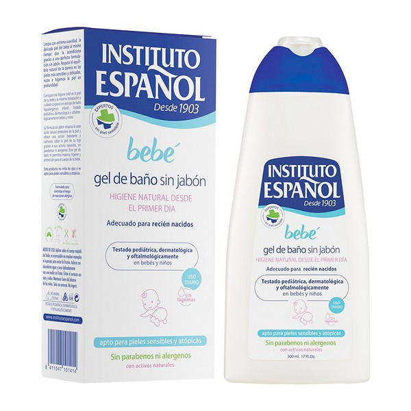 Shower Gel Without Soap Bebé Instituto Español (500 Ml)