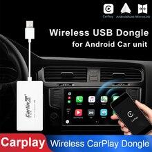 Новая беспроводная для Apple CarPlay Автомобильная короткая тяга ключ для Android навигационный плеер Plug Play USB автомобильная короткая тяга ключ для телефона Android