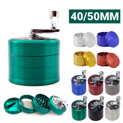 4 Layers Mini Metal Grinder Weed 55MM Zinc Alloy Tobacco Dry Smoke Weed Accessories Tool Hemp Pepper Pot Spice Mill Grinder Herb