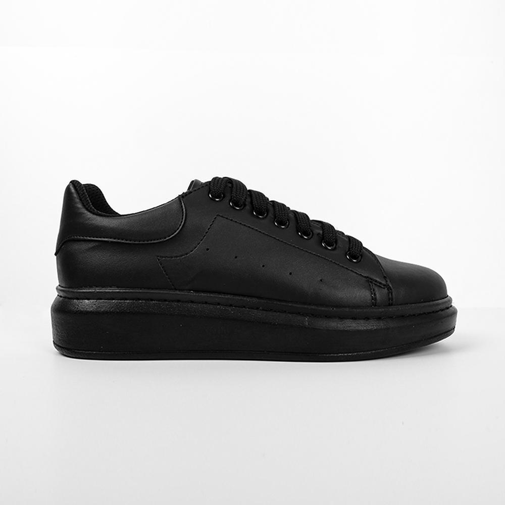 MIORPH/Новинка 2020 года; Сезон весна; Теннисные туфли черного цвета на шнуровке; Женская кожаная однотонная повседневная женская обувь; Кроссовки McQueen|Обувь без каблука|   | АлиЭкспресс