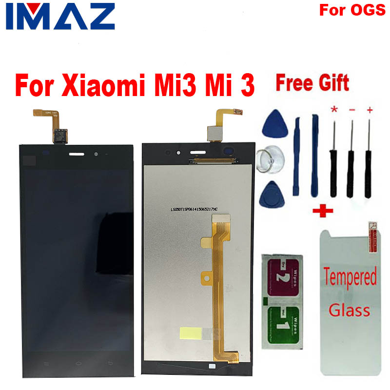 IMAZ 100% Tested OGS Touch Screen For <font><b>Xiaomi</b></font> M3 <font><b>Mi3</b></font> WCDMA LCD <font><b>Display</b></font> Digitizer Assembly For <font><b>Xiaomi</b></font> Mi 3 LCD Screen With Frame image