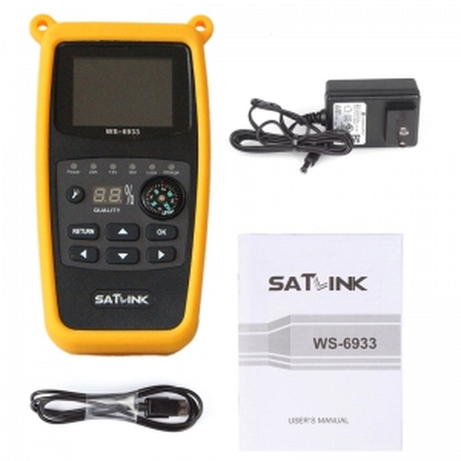 SatLink WS-6933 Ultra-Fast Compact HD DVB-S + DVB-S2 FINDER SATELLITE SIGNAL все цены