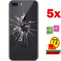 5x Protectors Screen Tempered Glass Back for for APPLE IPHONE 7 PLUS (Generico  Not Full SEE INFO) WIPES