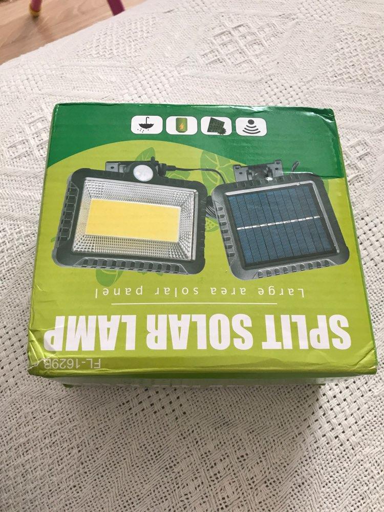 56 leds solar light detachable panel waterproof IP65 motion sensor for yard lawn patio lantern security emergency spot lamp 5M