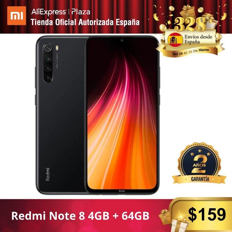 샤오미 Redmi Note 8 (64GB ROM 4GB RAM, 금어초™665, Android, Nuevo, Móvil)