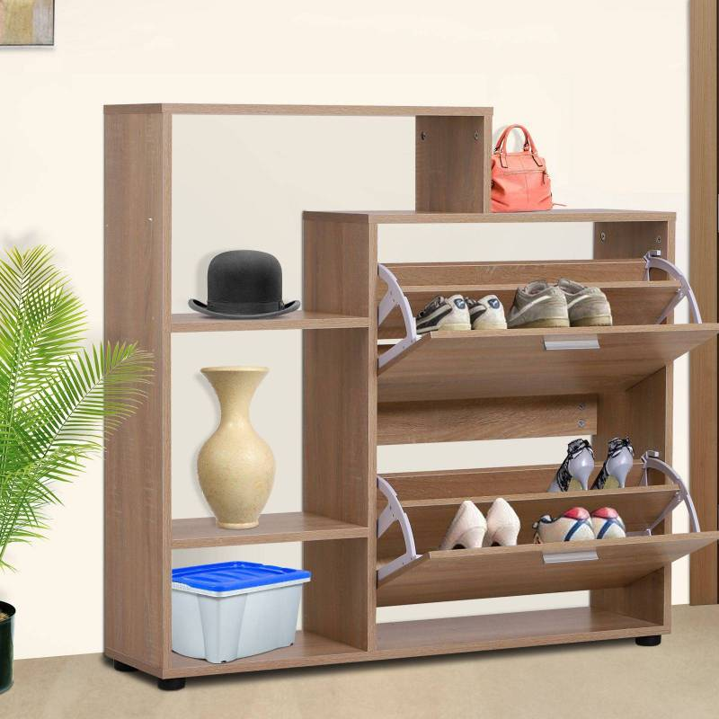 Wooden shoe rack with Shelf and Cubes Wardrobe for Shoes Entryway Hallway Organizer font b Closet