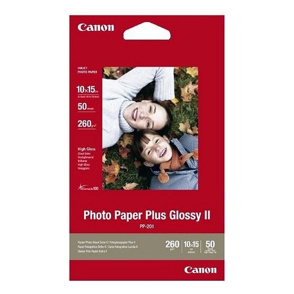 Glossy Photo Paper Canon Plus Glossy II 10 X 15 Cm (50 Uds)