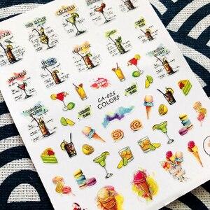 Image 3 - Ca seriesCA 312, diseños de café, taza de cristal, calcomanía de pegatinas 3d para decoración de uñas fresca, plantilla, herramienta para uñas, decoraciones diy