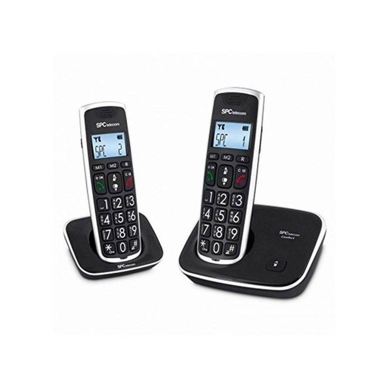 Cordless Phone SPC 7609N (2 Pcs) Black