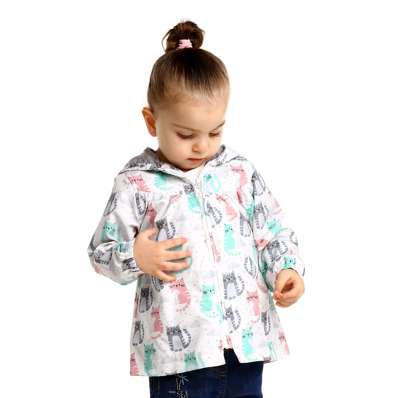 Ebebek Midimod Summer Baby Girl Cat Micro Rain Coat