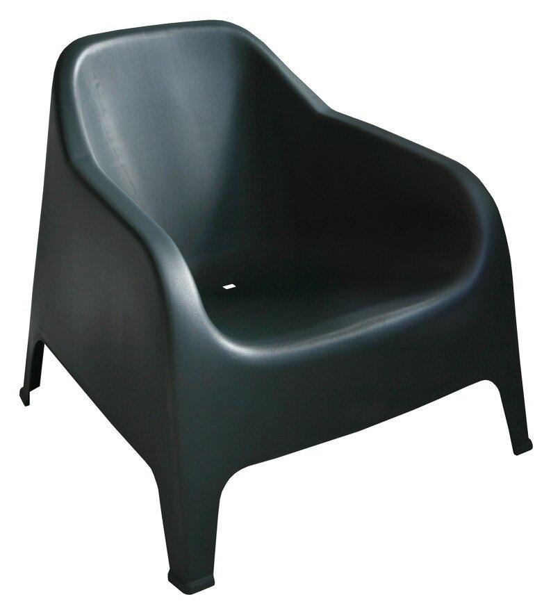 Armchair SUNNY BIG, Stackable, Black Polypropylene