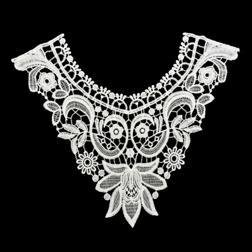 3020268 Collar Sewing,, Lace, 30*28,5 Cm, Color White