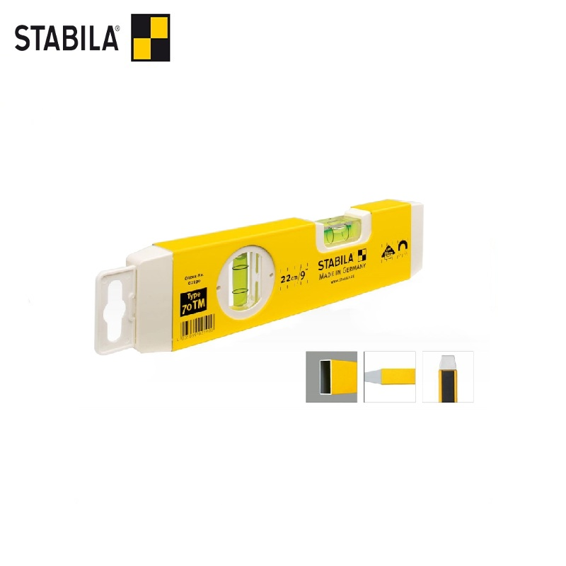 STABILA Level type 70TM, 22cm (1vert., 1horiz., Magnetic, exact. 0,5mm / m) Bubble level instrument Vertical magnet Horizontal цены онлайн