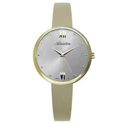 Reloj de mujer a3632.1187q correa de cuero mineral cristal luz solar