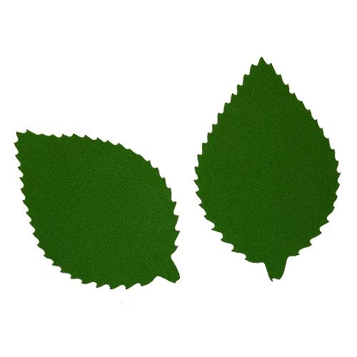 Фом8-1-2 Workpiece From Foamiran 'sheet пильчатый', 5x3 Cm, 10 PCs, Dark Green
