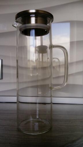 Big Lemonade Transparent Glass Jug With Tap 1.2L 1.5L