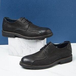 Image 2 - CAMEL Mens Shoes Comfortable Casual Shoes Men Genuine Leather Retro Fashion Business Soft Non slip Resistant Men Shoes