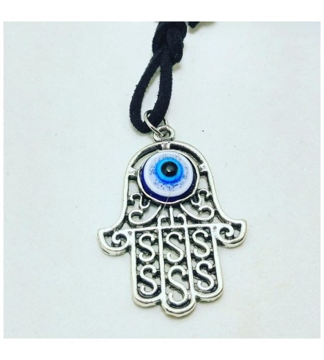 FATIMA HAND Pendant With TURKISH EYE (evil Eye AMULET) 3cm