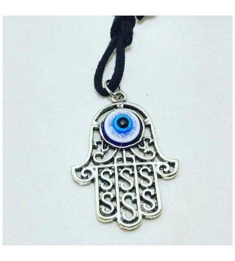 FATIMA HAND Pendant With TURKISH EYE (evil Eye AMULET) 3cm