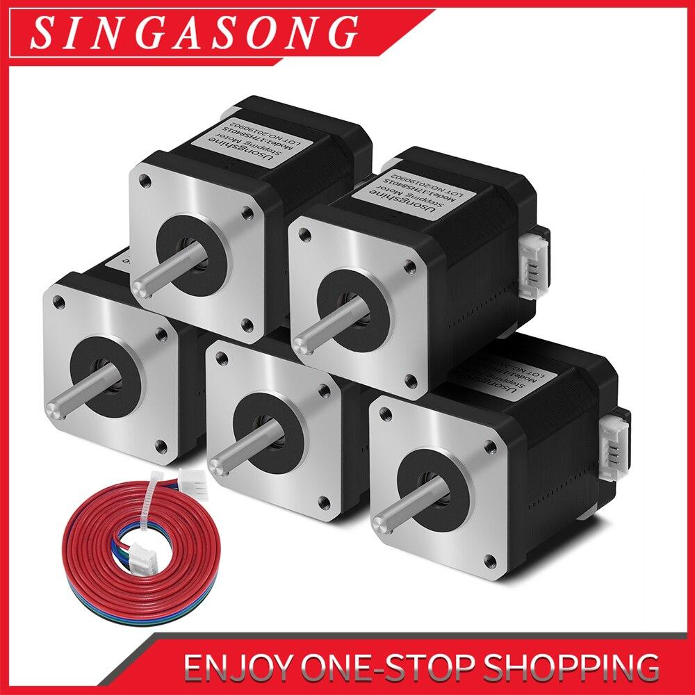 Envío gratis 4 plomo Nema 17 Motor paso a paso 42 motor 17HS8401S 1.8A CE ROSH ISO CNC láser y 3D impresora motor Motor de paso    - AliExpress