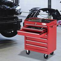 Tool trolley with Wheels Box Workshop type Lock storage Cabinet for Workshop Garage and Home|Power Tool Accessories| |  -