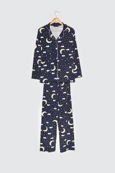 Trendyol Printed Knitted Pajamas Set THMAW21PT0916
