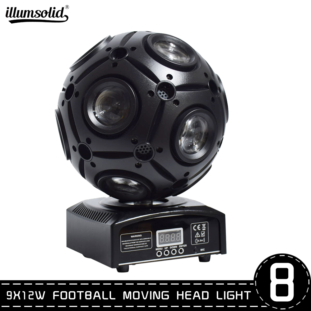 9x12W Football Moving Head Dj Lights Beam For Club Events Stage Party Disco Magic Ball Light 8pcs/lot