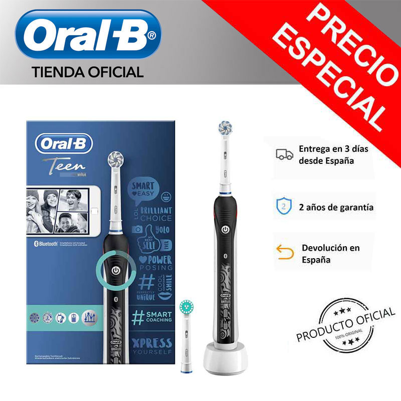 Oral B Smart Series Teen, Junior (6 +) Toothbrush Electric, head rounded + Gift toothpaste image